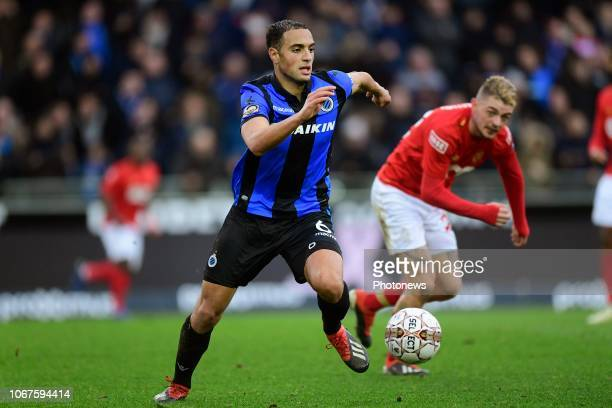 Sofyan Amrabat midfielder of Club Brugge is attacking during the Jupiler Pro League match between Club Brugge and Standard de Liege at the Jan...