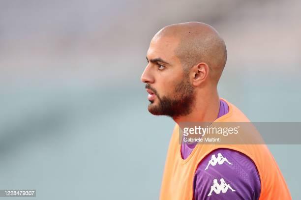 Sofyan Amrabat of ACF Fiorentina looks on at Artemio Franchi on September 12 2020 in Florence Italy