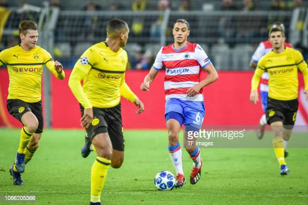 Sofyan Amrabat of Bruegge controls the ball during the Group A match of the UEFA Champions League between Borussia Dortmund and Club Brugge at Signal...
