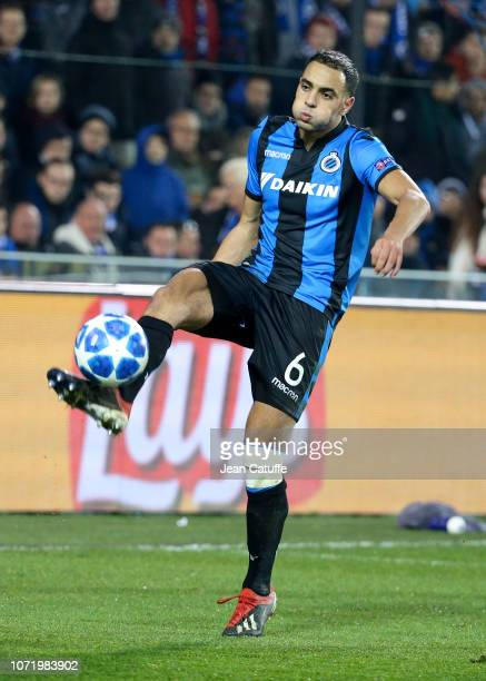 Sofyan Amrabat of Club Brugge during the UEFA Champions League Group A match between Club Brugge KV and Club Atletico de Madrid at Jan Breydel...