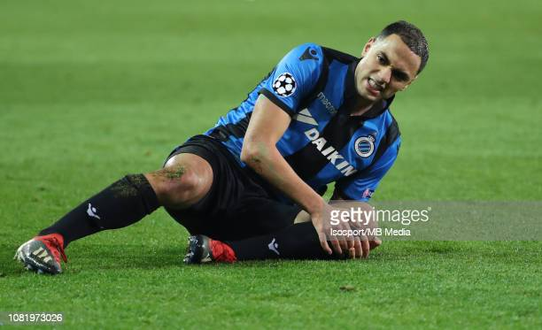 Sofyan Amrabat of Club Brugge during the UEFA Champions League Group A match between Club Brugge and Club Atletico de Madrid at Jan Breydel Stadium...