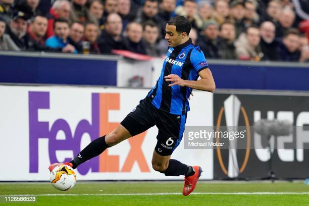 Sofyan Amrabat of Club Brugge during the UEFA Europa League Round of 32 match between FC Salzburg and Club Brugge at Red Bull Arena on February 21...