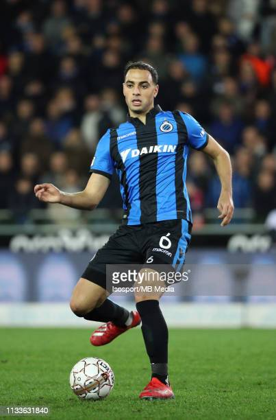Sofyan Amrabat of Club Brugge in action during the Jupiler Pro League match between Club Brugge and SintTruidense VV at Jan Breydel Stadium on March...