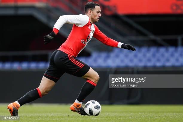 Sofyan Amrabat of Feyenoord 2 during the match between Feyenoord 2 v SC Heerenveen 2 at the Stadium Feijenoord on February 12 2018 in Rotterdam...