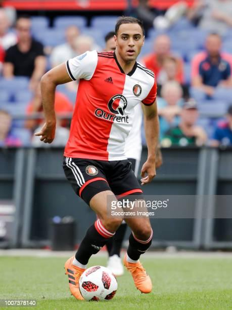 Sofyan Amrabat of Feyenoord during the Club Friendly match between Feyenoord v Levante at the Stadium Feijenoord on July 29 2018 in Rotterdam...