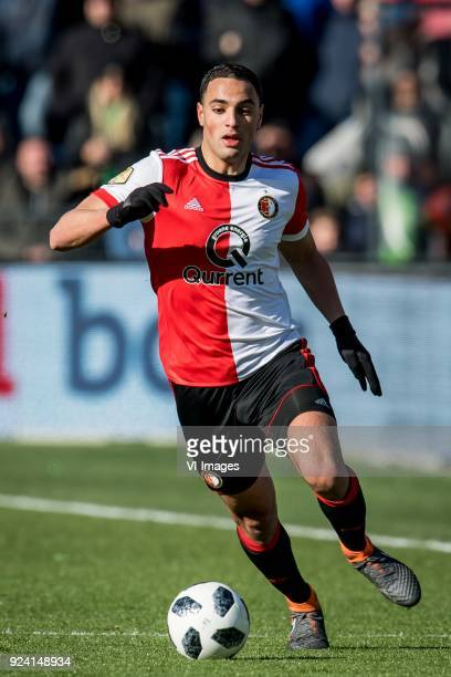 Sofyan Amrabat of Feyenoord during the Dutch Eredivisie match between Feyenoord Rotterdam and PSV Eindhoven at the Kuip on February 25 2018 in...