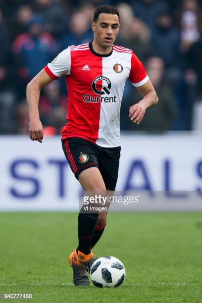 Sofyan Amrabat of Feyenoord during the Dutch Eredivisie match between Feyenoord Rotterdam and sbv Excelsior at the Kuip on April 01 2018 in Rotterdam...