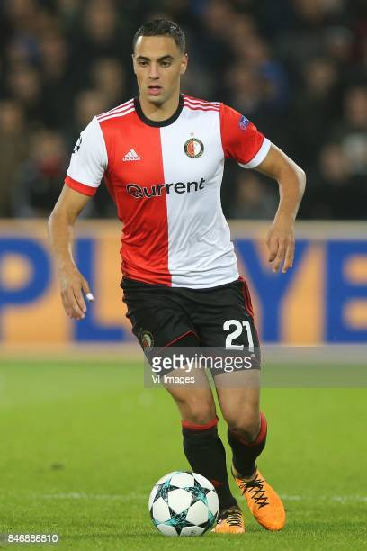 Sofyan Amrabat of Feyenoord during the UEFA Champions League group F match between Feyenoord Rotterdam and Manchester City at the Kuip on September...