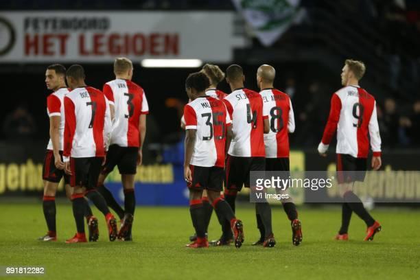 Sofyan Amrabat of Feyenoord JeanPaul Boetius of Feyenoord Sven van Beek of Feyenoord Tyrell Malacia of Feyenoord Jeremiah St Juste of Feyenoord Karim...