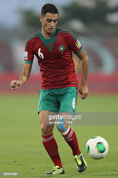 Sofyan Amrabat of Morocco during the Group C FIFA U17 World Cup match between Croatia and Morocco at Fujairah Stadium on October 18 2013 in Fujairah...
