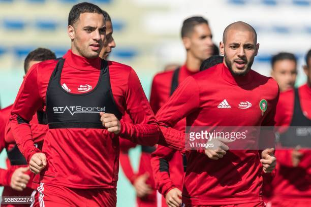 Sofyan Amrabat of Morocco Nordin Amrabat of Morocco during a training session prior to the International friendly match between Morocco and...
