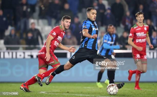 Sofyan Amrabat pictured in action during the Jupiler Pro League match between Club Brugge and SV Zulte Waregem at Jan Breydel Stadium on November 23...