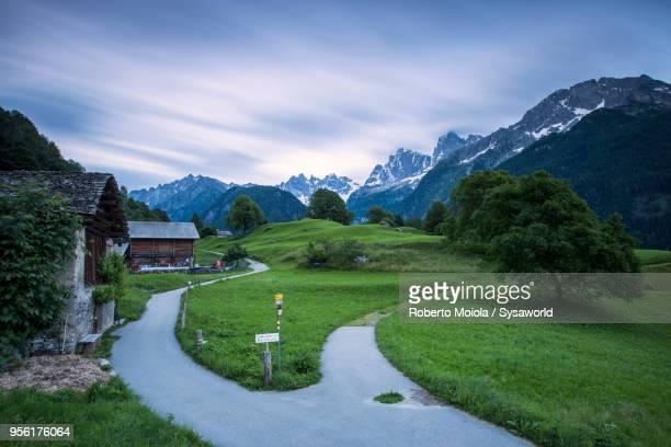 Soglio at dusk, Maloja, Switzerland