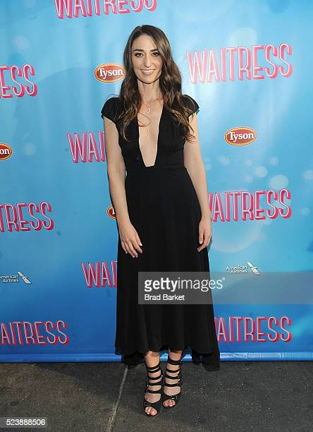 Sognwriter Sara Beth Bareilles attends 'Waitress' Broadway Opening Night Arrival Curtain Call at The Brooks Atkinson Theatre on April 24 2016 in New...