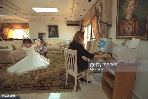 Soha Arafat working on her computer