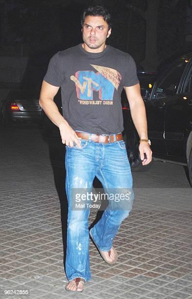 Sohail Khan during Karisma Kapoor's house warming party in Mumbai on January 26 2010