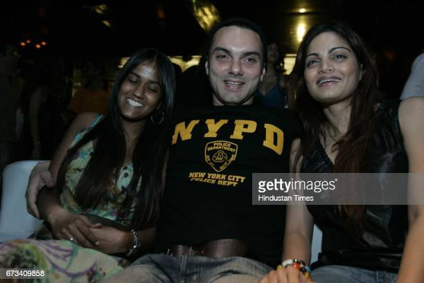 Sohail Khan with sisters Alvira Khan and Arpita Khan at Monza Party