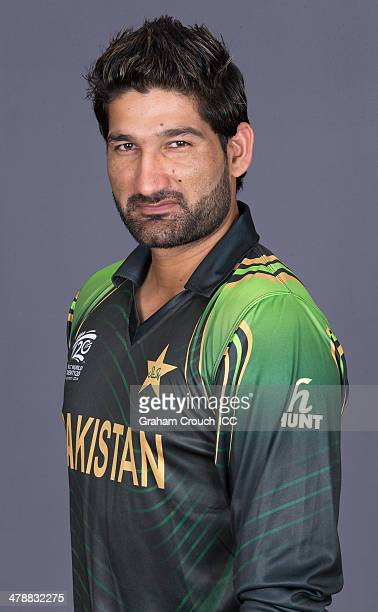 Sohail Tanvir of Pakistan at the headshot session at the Pan Pacific Hotel Dhaka in the lead up to the ICC World Twenty20 Bangladesh 2014 on March 15...