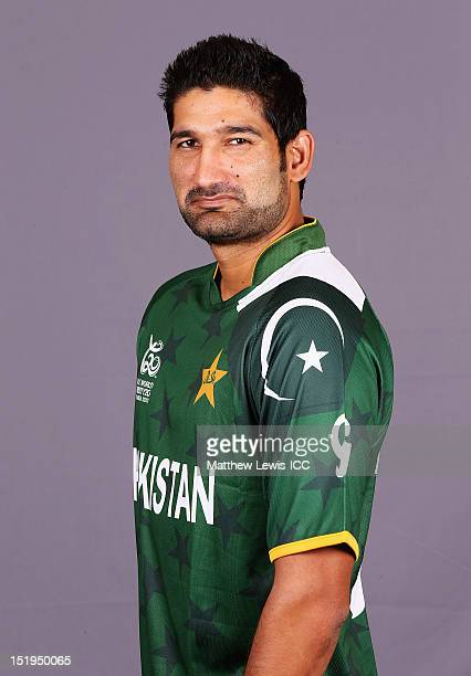 Sohail Tanvir of Pakistan pictured during a Pakistan Portrait Session ahead of the ICC T20 World Cup at the Cinnamon Grand Hotel on September 13 2012...
