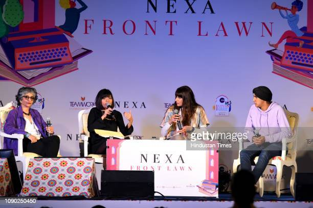 Sohaila Abdulali Sunita Toor and Simar Singh in conversation with Pragya Tiwari during The Shape of Justice Identifying Gender Violence and Finding...