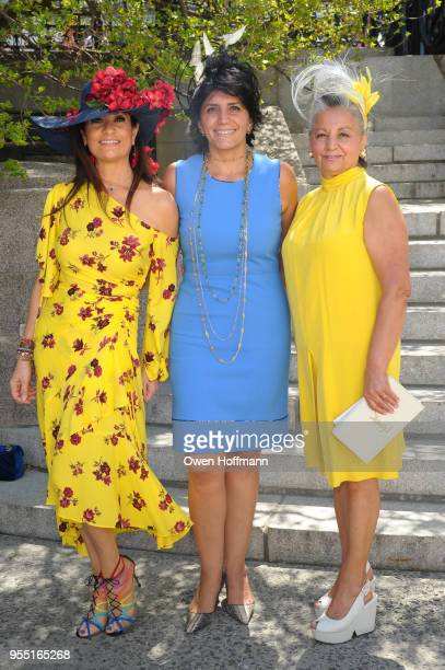 Soheila Adelipour Mahrokh Sakhai and Kate Khakshouri attend 36th Annual Frederick Law Olmsted Awards Luncheon Central Park Conservancy at The...