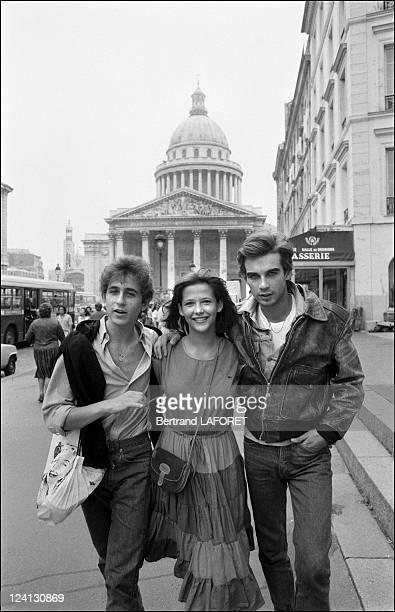 Sohie Marceau on the set of La Boum II in Paris France in July 1982 Philippe Kelly Sophie Marceau Pierre Cosso