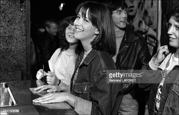 Sohie Marceau on the set of La Boum II in Paris France in July 1982 Sophie Marceau