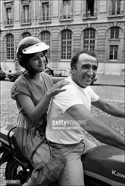 Sohie Marceau on the set of La Boum II in Paris France in July 1982 Sophie Marceau Claude Brasseur