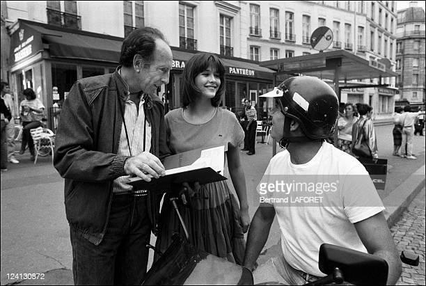 Sohie Marceau on the set of La Boum II in Paris France in July 1982 Claude Pinoteau Sophie Marceau Claude Brasseur