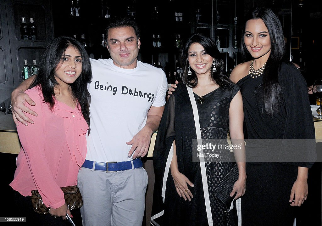 Sohil Khan and Sonakshi Sinha at a party hosted by Shatrughan Sihna in an Honour of Kokilaben Ambani Hospital doctors where Amitabh Bachchan got...