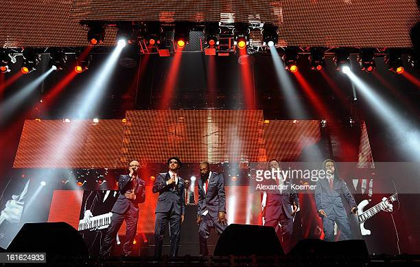Sohne Mannheims performs during the TV Show rehearsals of 'Our Star For Malmoe' on February 13 2013 in Hanover Germany 'Our Star For Malmoe' is a...