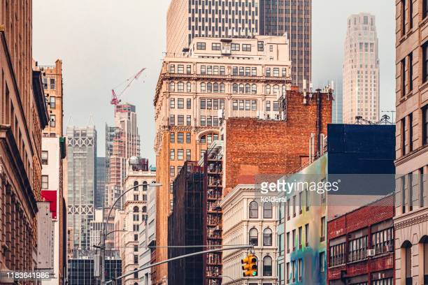 soho buildings - soho new york stock pictures, royalty-free photos & images