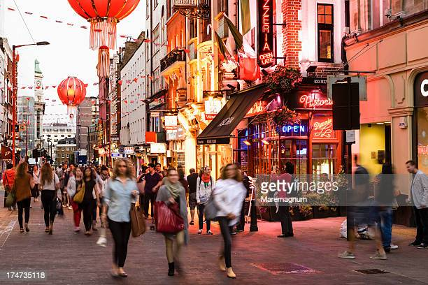 Soho, Chinatown, view of Wardour street