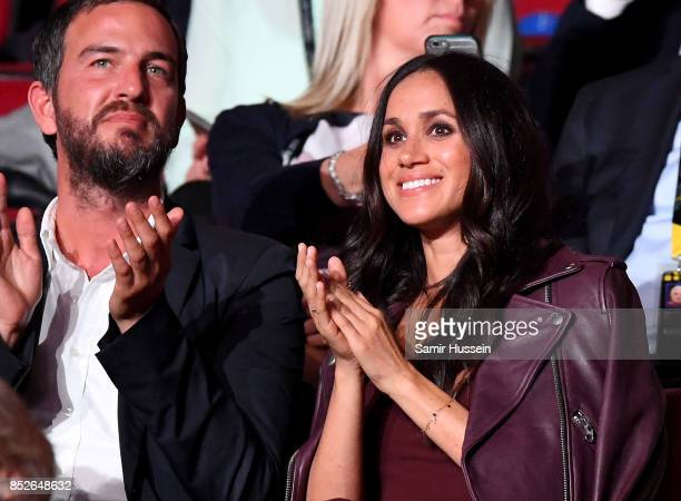 Soho House consultant Markus Anderson and actress Meghan Markle attend the opening ceremony on day 1 of the Invictus Games Toronto 2017 at Air Canada...
