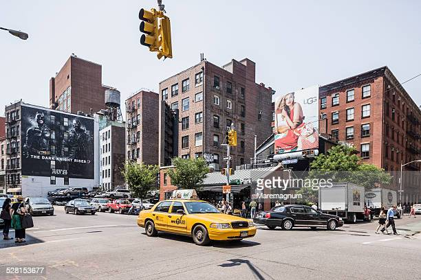 soho, lafayette street and prince street - soho new york stock pictures, royalty-free photos & images