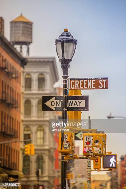 Soho New York City streets with signals