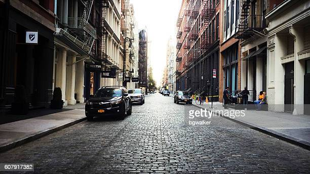 Soho Street Scene New York in Early Morning