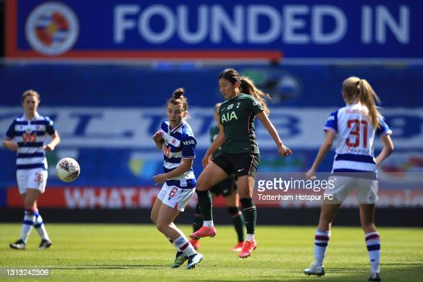 So-Hyun Cho of Tottenham Hotspur and Angharad James of Reading during the Vitality Women's FA Cup Fourth Round match between Reading Women and...