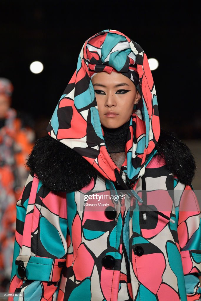Sohyun Jung walks the runway for Marc Jacobs SS18 fashion show during New York Fashion Week at Park Avenue Armory on September 13, 2017 in New York City.