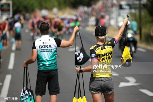 Soigneur / Feed Zone / Team Jumbo-Visma / Team Bora-Hansgrohe / during the 106th Tour de France 2019, Stage 16 a 177km stage from Nîmes to Nîmes /...