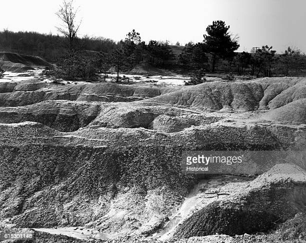 Soil erosion Near Jackson Mississippi March 1936
