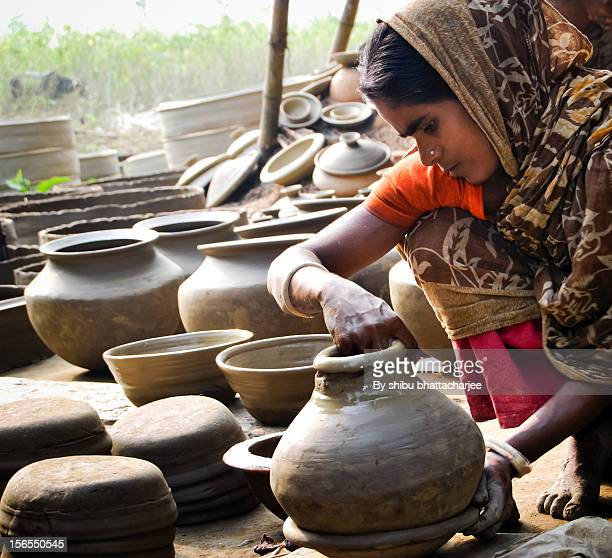 soil handicrafts - bangladesh village stock photos and pictures