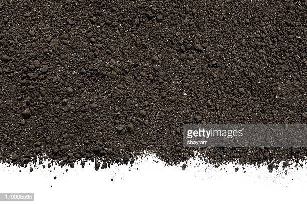 soil or dirt isolated on white background - dirt stock pictures, royalty-free photos & images
