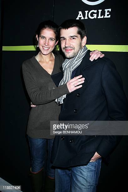 Soiree Aigle 'Les Pieds Dans L'Eau' In Paris France On November 08 2007 Clemence Castel and Mathieu