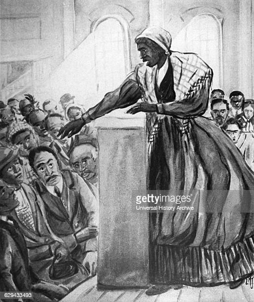 Sojourner Truth AfricanAmerican Abolitionist and Women's Rights Activist Illustration from the Film The Emerging Woman Produced by the Women's Film...