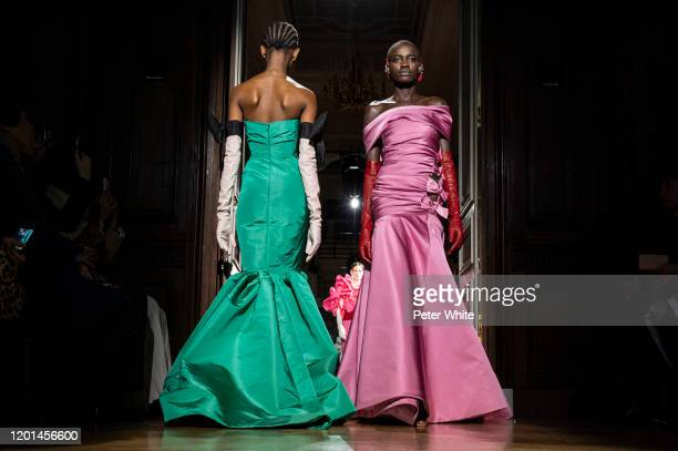 Sokhna walks the runway during the Valentino Haute Couture Spring/Summer 2020 show as part of Paris Fashion Week on January 22, 2020 in Paris, France.