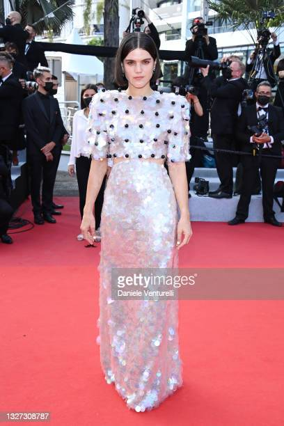 """Soko attends the """"Annette"""" screening and opening ceremony during the 74th annual Cannes Film Festival on July 06, 2021 in Cannes, France."""
