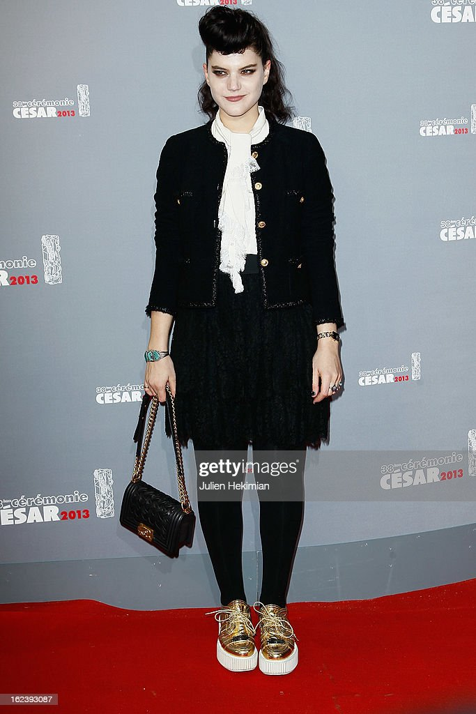 Soko attends the Cesar Film Awards 2013 at Theatre du Chatelet on February 22, 2013 in Paris, France.