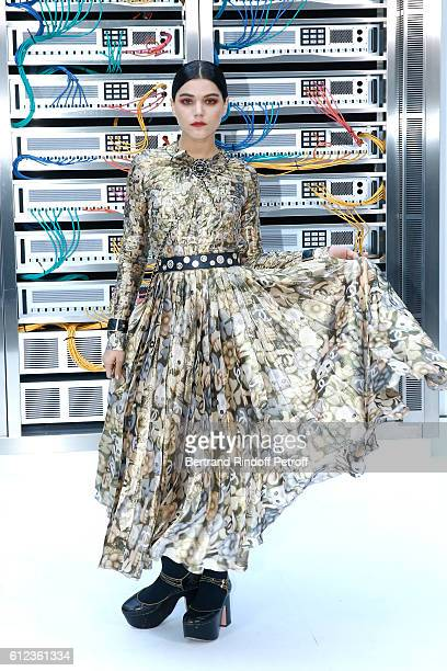 Soko attends the Chanel show as part of the Paris Fashion Week Womenswear Spring/Summer 2017 on October 4 2016 in Paris France