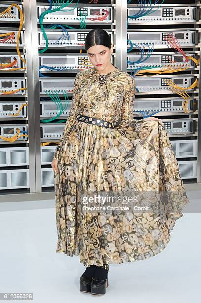 Soko attends the Chanel show as part of the Paris Fashion Week Womenswear Spring/Summer 2017 on October 4, 2016 in Paris, France.
